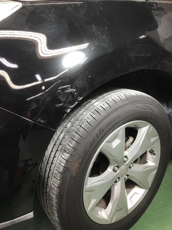 スバル フォレスター フェンダー鈑金修理