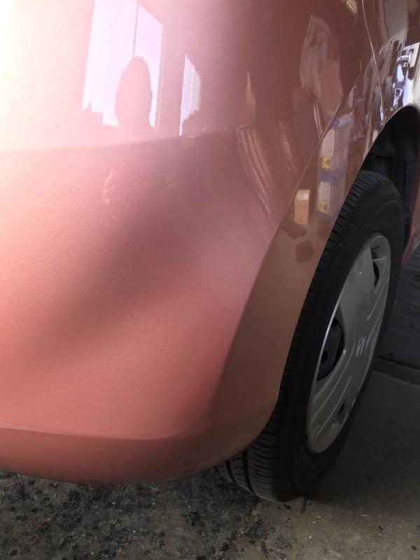 泉南市 ホンダ ライフ リヤバンパ板金塗装