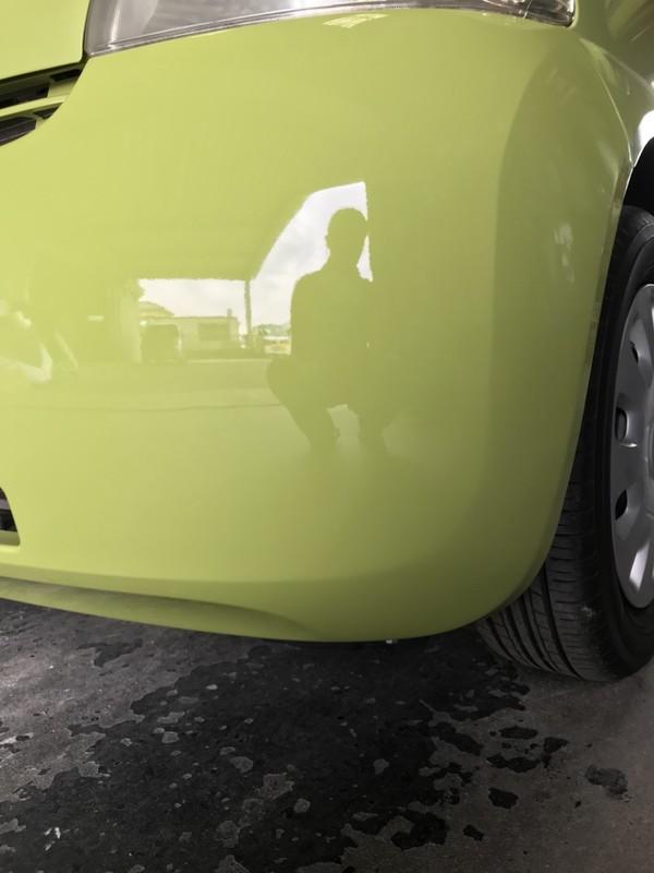 泉南市 エッセ リヤバンパ板金塗装