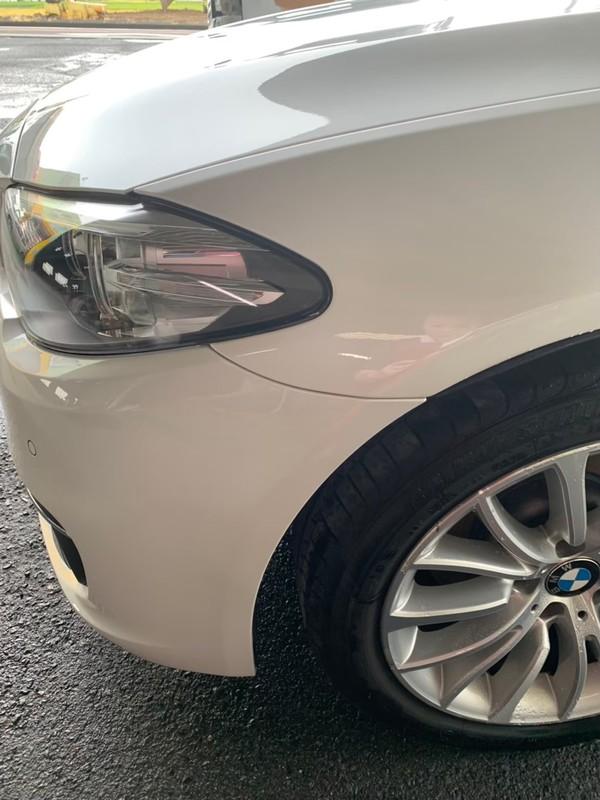 泉佐野市 BMW フロントバンパー・左フロントフェンダー 板金塗装